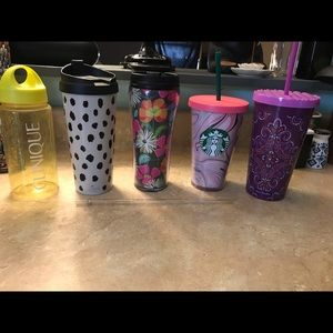 DESIGNER CUP, MUG, & BOTTLE LOT